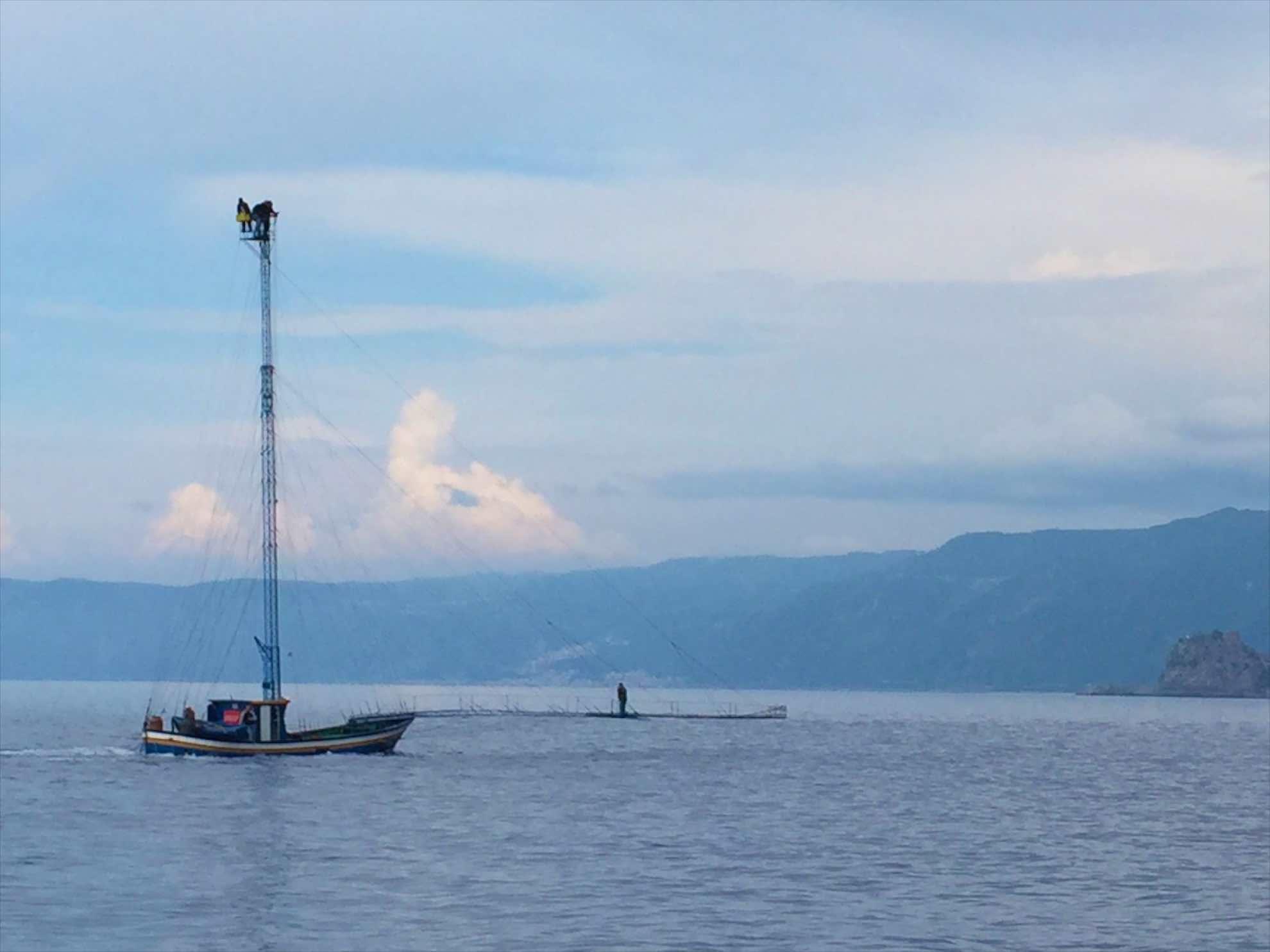 Ein Unikum, die speziellen Boote der Schwertfischjäger.