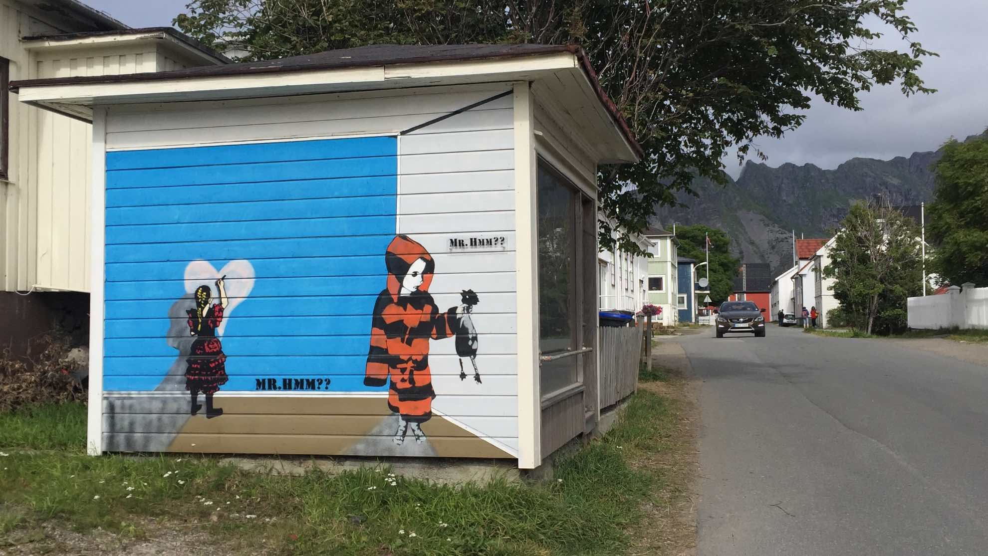 Straßenkunst.