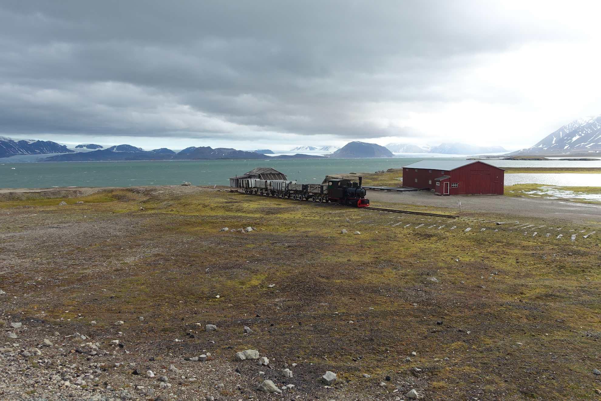 Eine alte Bergbau Eisenbahn ...