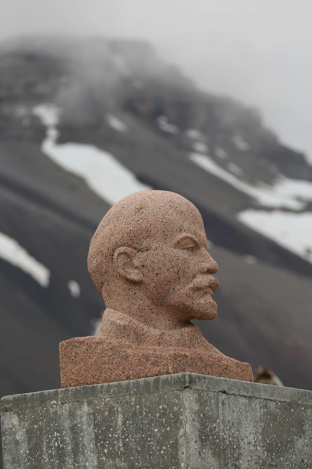 Eine Lenin-Büste aus Sowjetzeiten ...