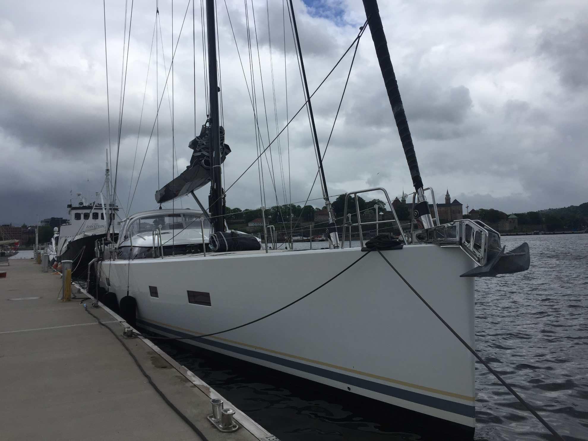 Das nächste große Zwischenziel ist erreicht – Malaika in der Aker Brygge Marina in Oslo.