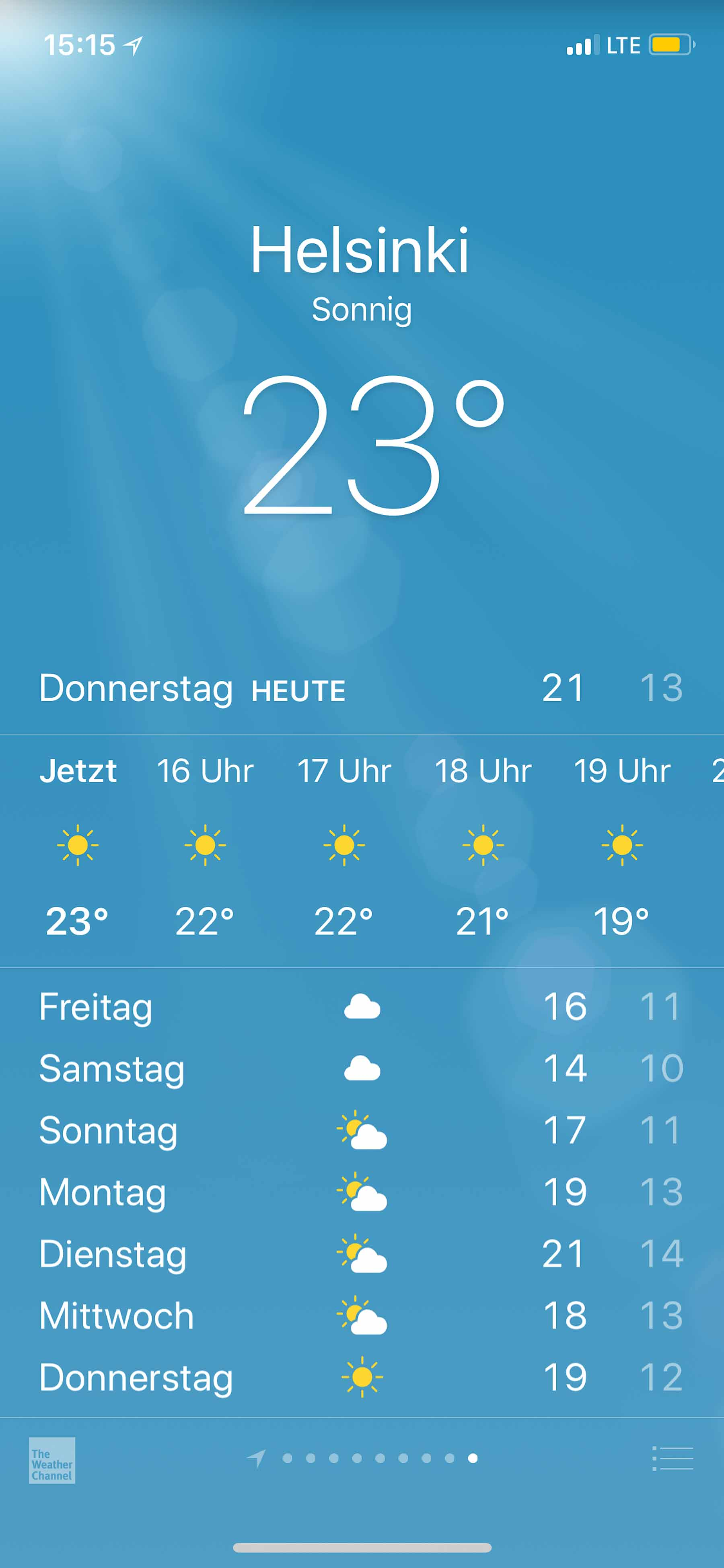 Traumhaftes Reisewetter!