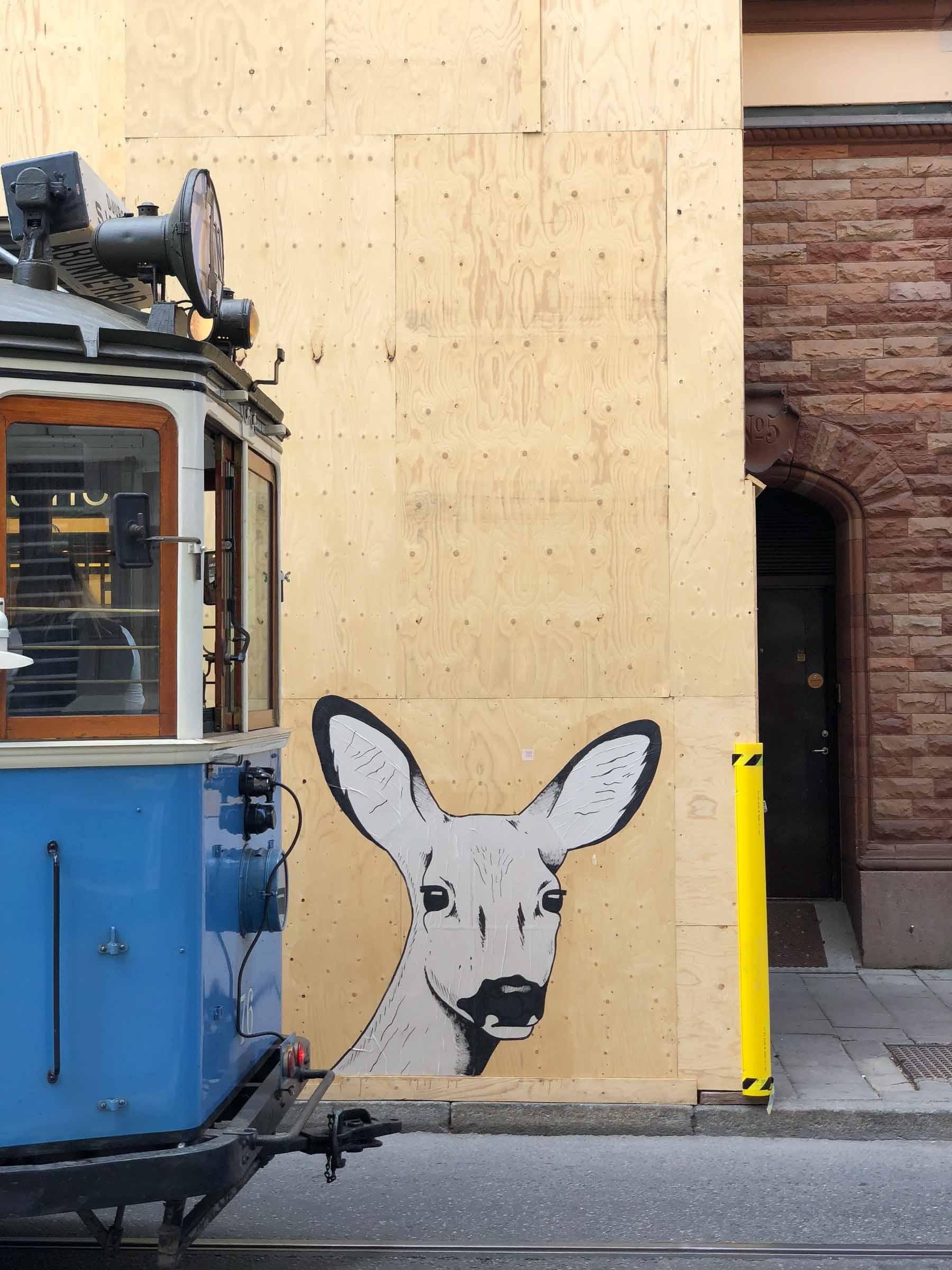 Streetart auf skandinavisch