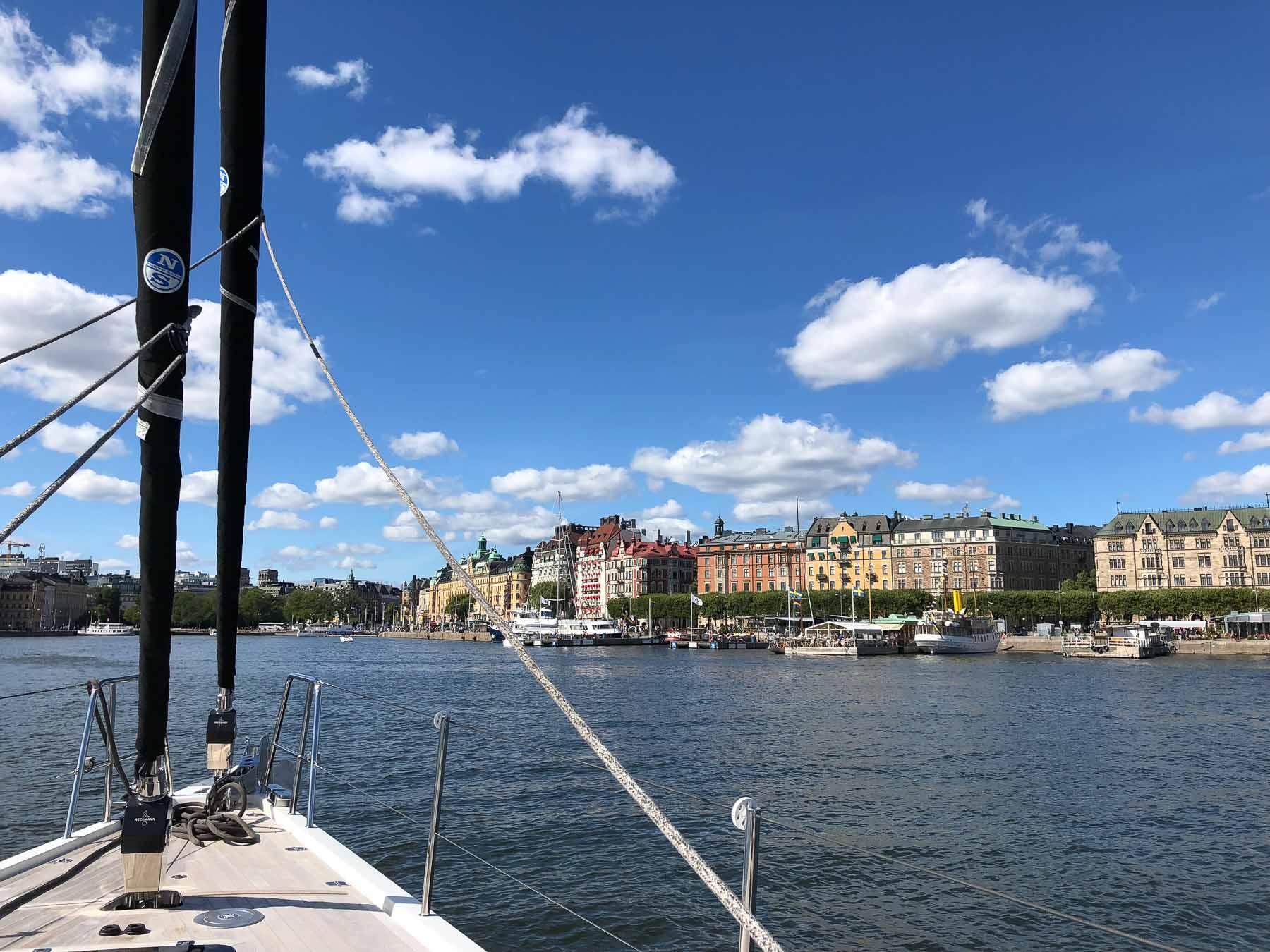 Die Einfahrt in den Stadthafen von Stockholm ist jedes Mal fantastisch