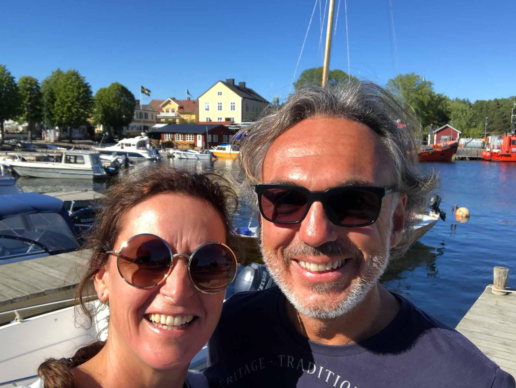 Wir verbringen einen netten Tag auf der Insel Stora Jolpan
