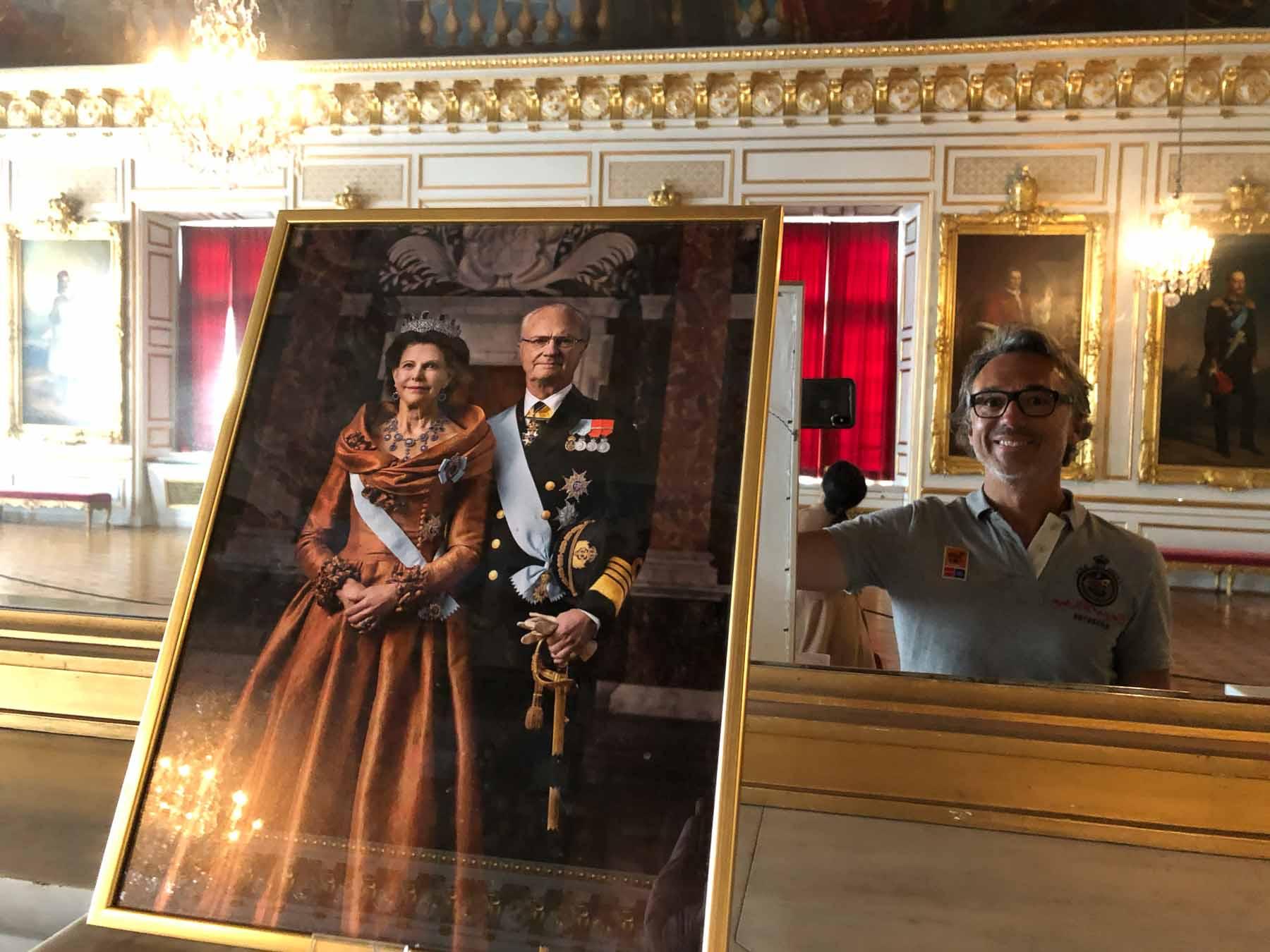 Selfie mit König Carl Gustaf und Königin Silvia