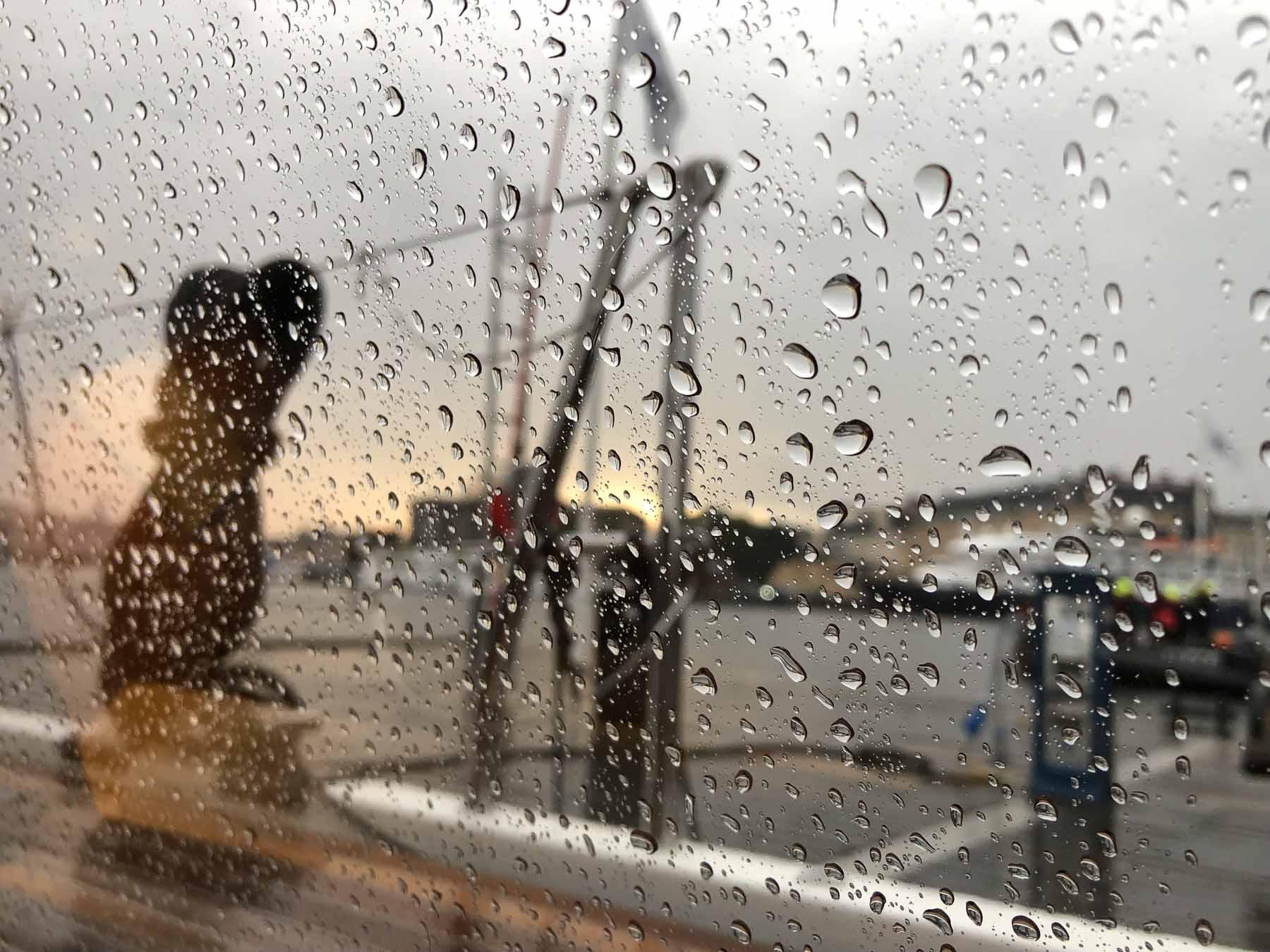 Regenwetter zum Abschied...