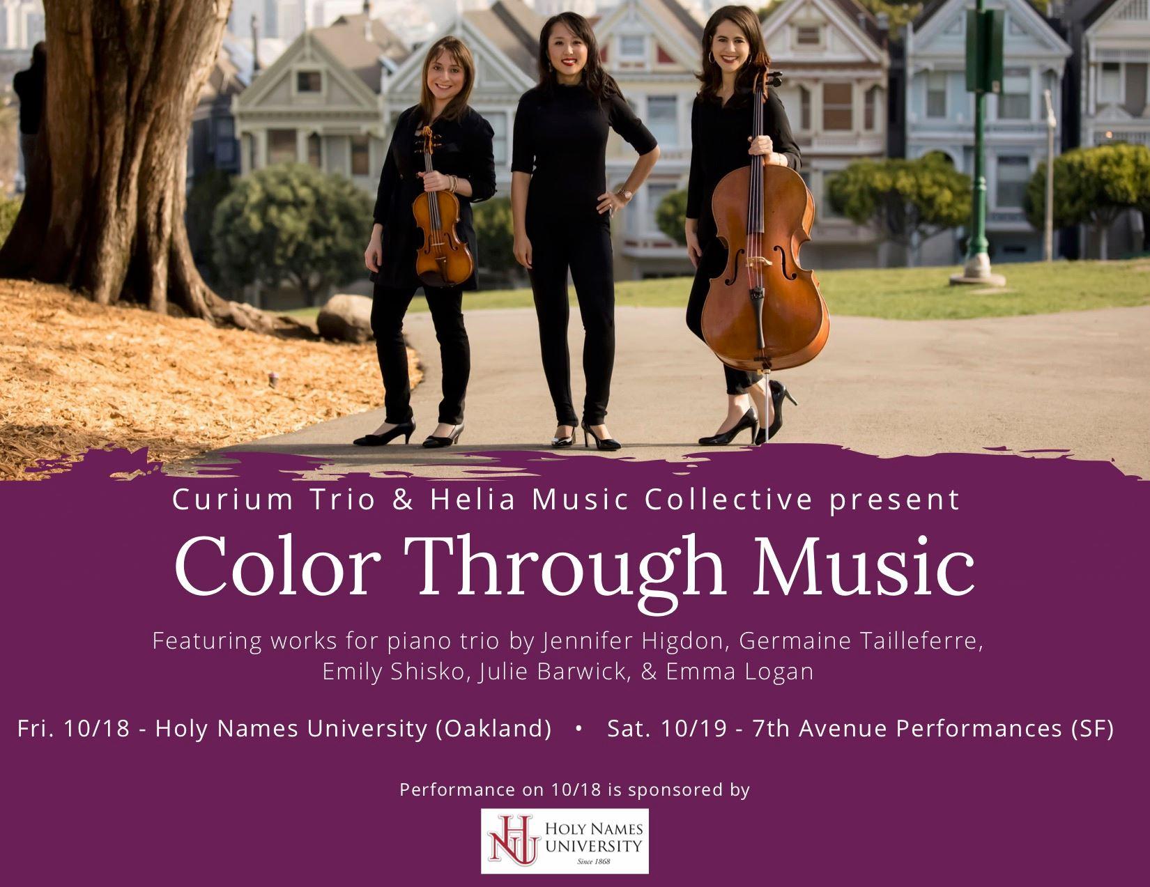 Curium Trio: (left to right) Agnieszka Peszko - violin, Rachel Kim - piano, Carlyn Kessler - cello
