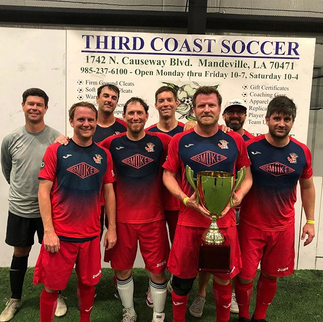 We recently wrapped up another great season of our Men's Over 30 Soccer Leagues at Playmakers! Congrats to Brew is Back, the winners of our Men's C League Championship, and Angry Dragons, the winners of our Men's B League Championship!