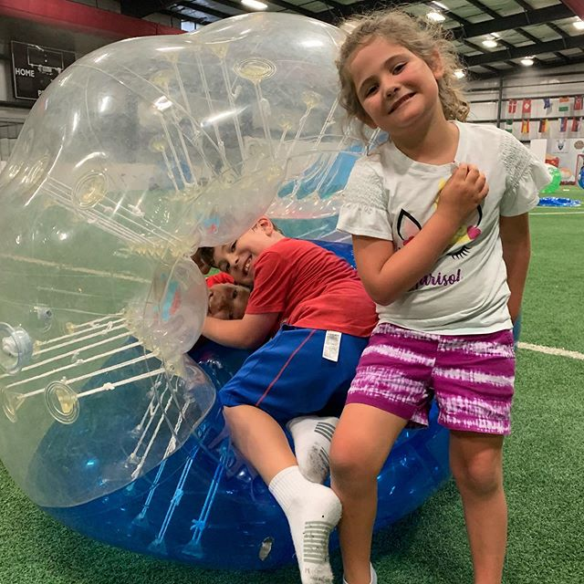 We just wrapped up another great week of Summer Camp at Playmakers with some bubble soccer!!! Come join the fun next week! https://www.playmakersnorthshore.com/camps #summercamp #bubblesoccer #lasertag #dropinswelcome #playmakersnorthshore