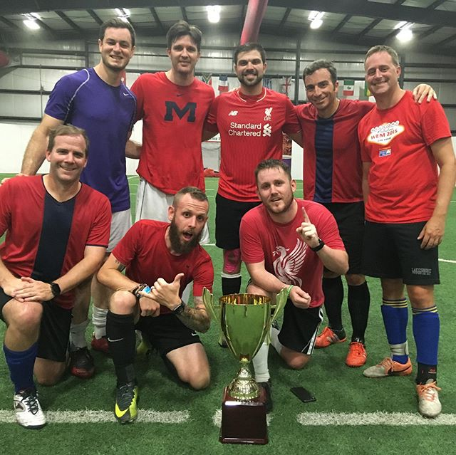 Congrats to Realcoholics, who just won our Men's Soccer Over 30 A League, and Covington FC, who won our Men's Soccer Open League!!! 🏆🎉👏 Think you can compete with these guys? Get a team together and give us a call! 985-898-2809