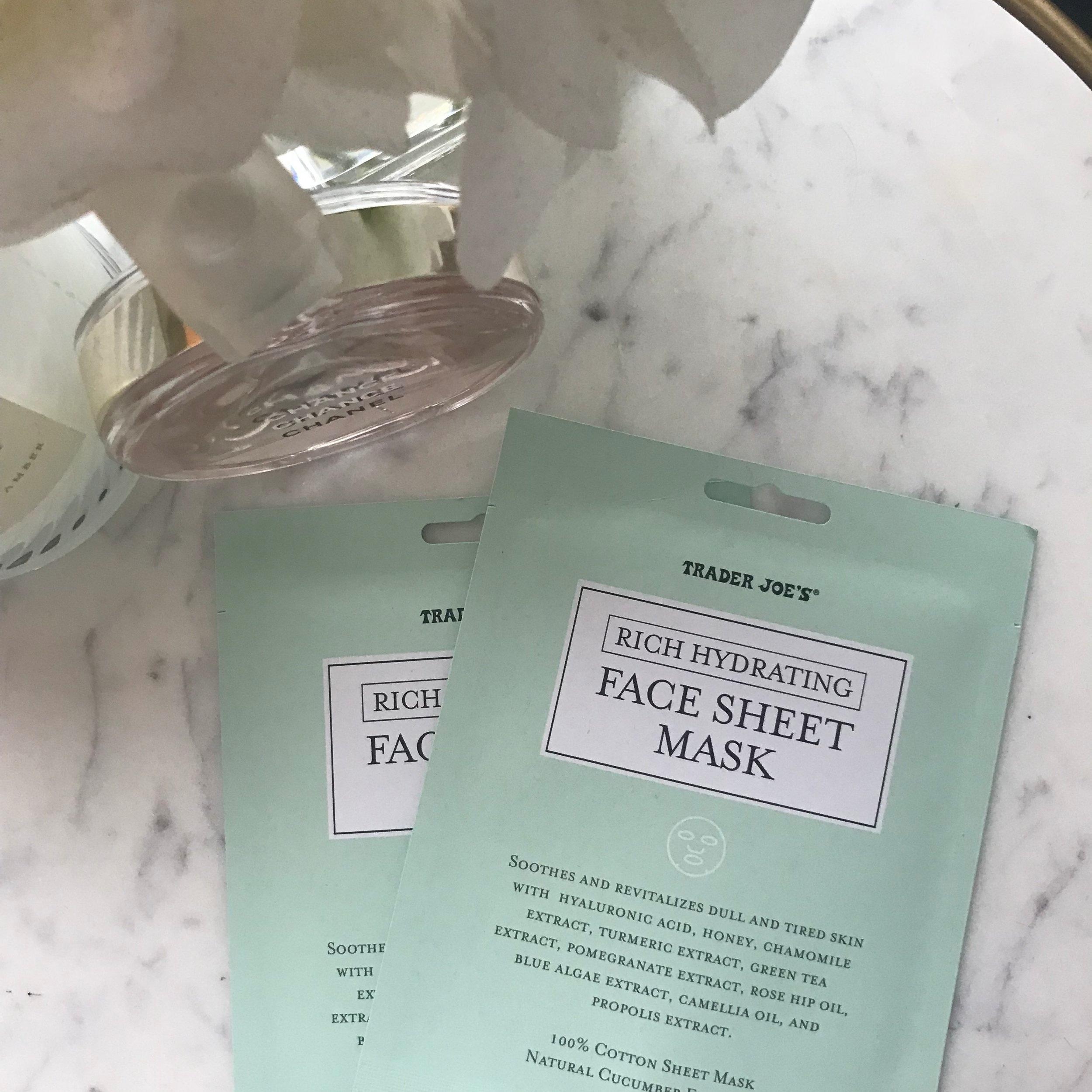Trader Joe's Rich Hydrating Face Sheet Mask -