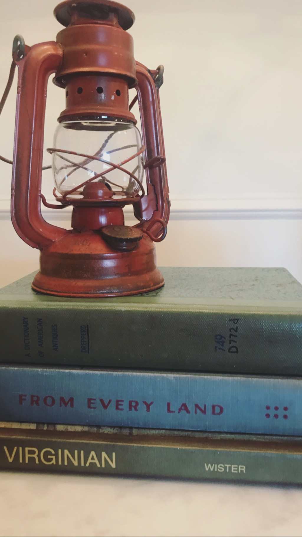 Darling vintage red lantern - The moment I saw this tarnished, slightly beaten, red lantern, I knew it was special.