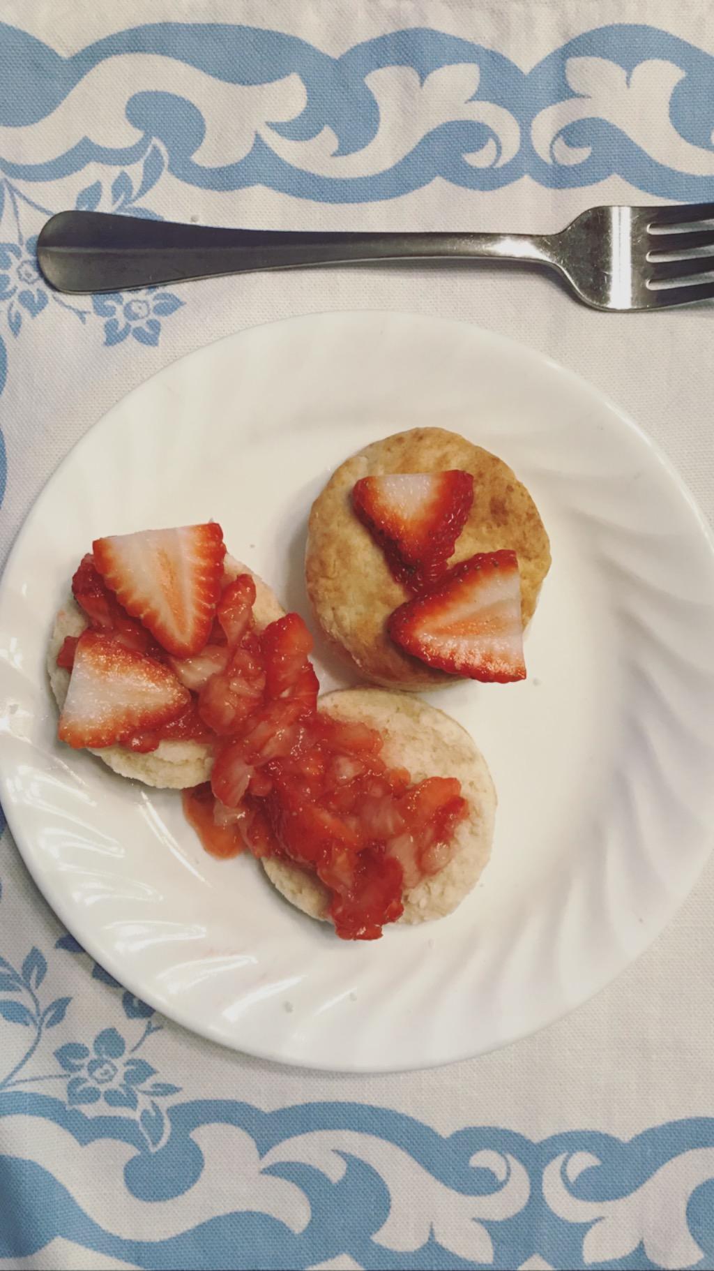 Strawberries 'n Biscuits -