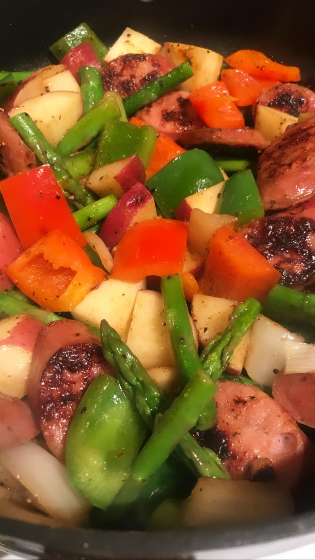 Chicken Apple Sausage Skillet - Wednesday Night Dinner!