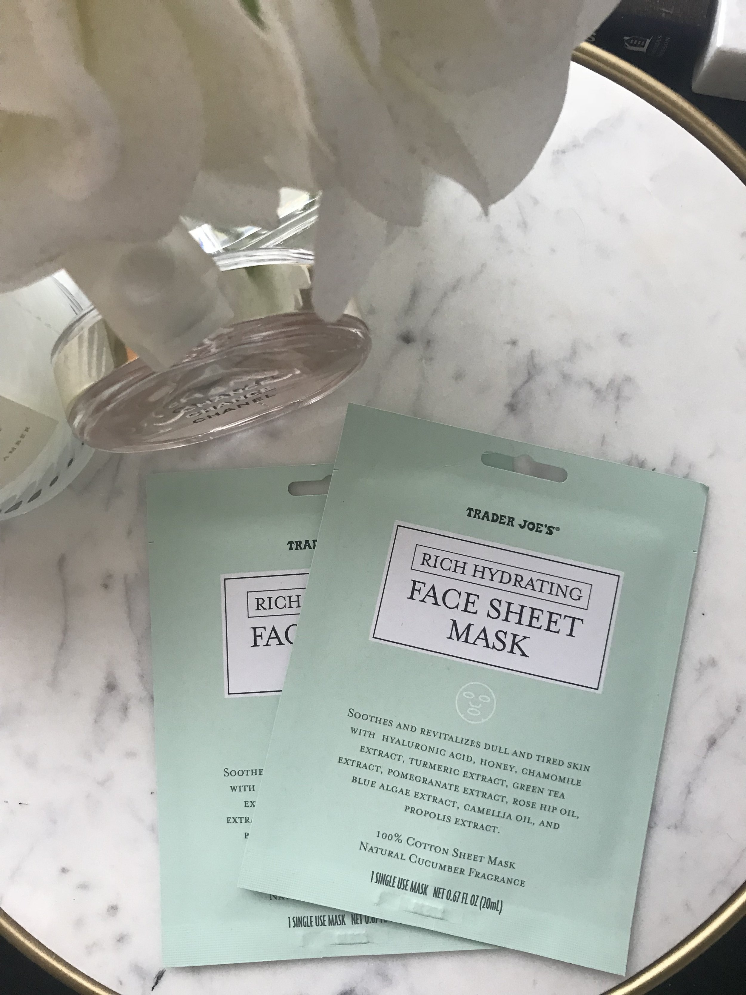 Trader Joe's Rich Hydrating Face Sheet Mask - My favorite old standby. (: