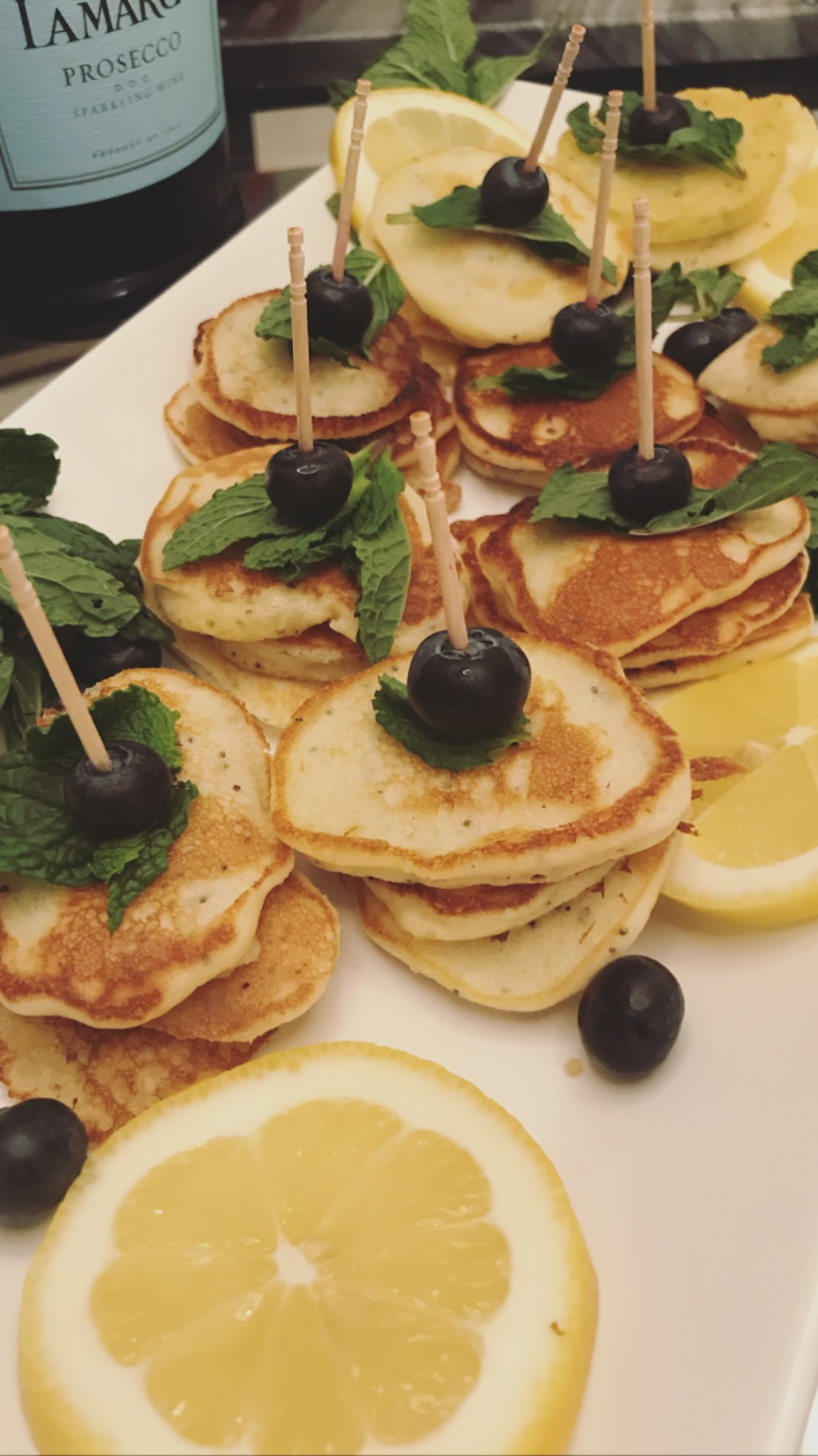 Lemon Poppy Seed Pancakes - Mini style! So cute and delicious!