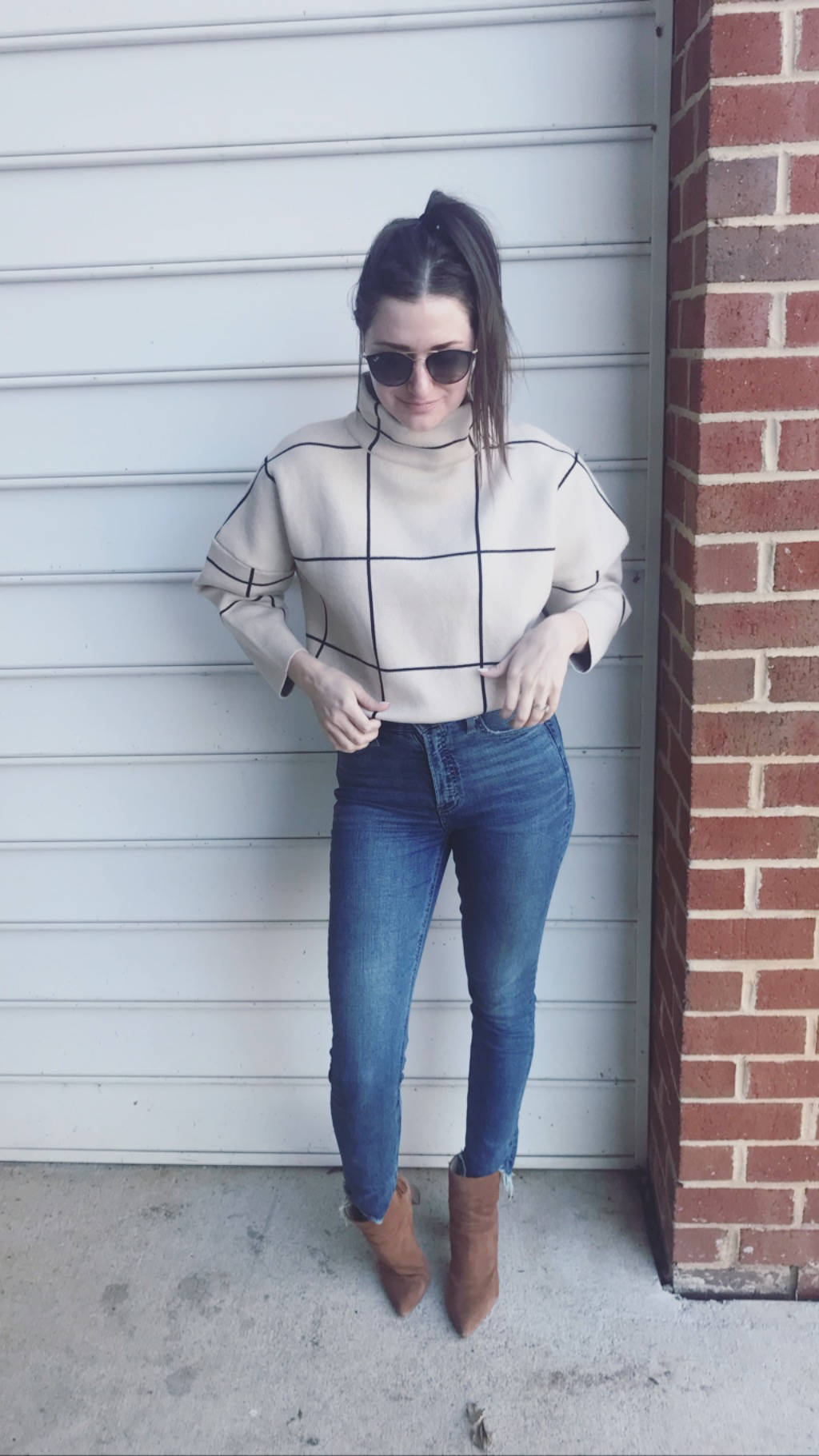 Grid Turtleneck Sweater - CHICWISH for the win! Click here to buy, of course… it's on sale now, lucky for you!