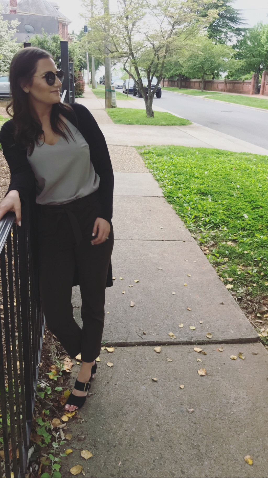Well, it is spring. - Another Banana Republic piece I'm obsessed with is their V-Neck tanks. They are perfect for under blazers, sweaters, and on their own for happy hour!