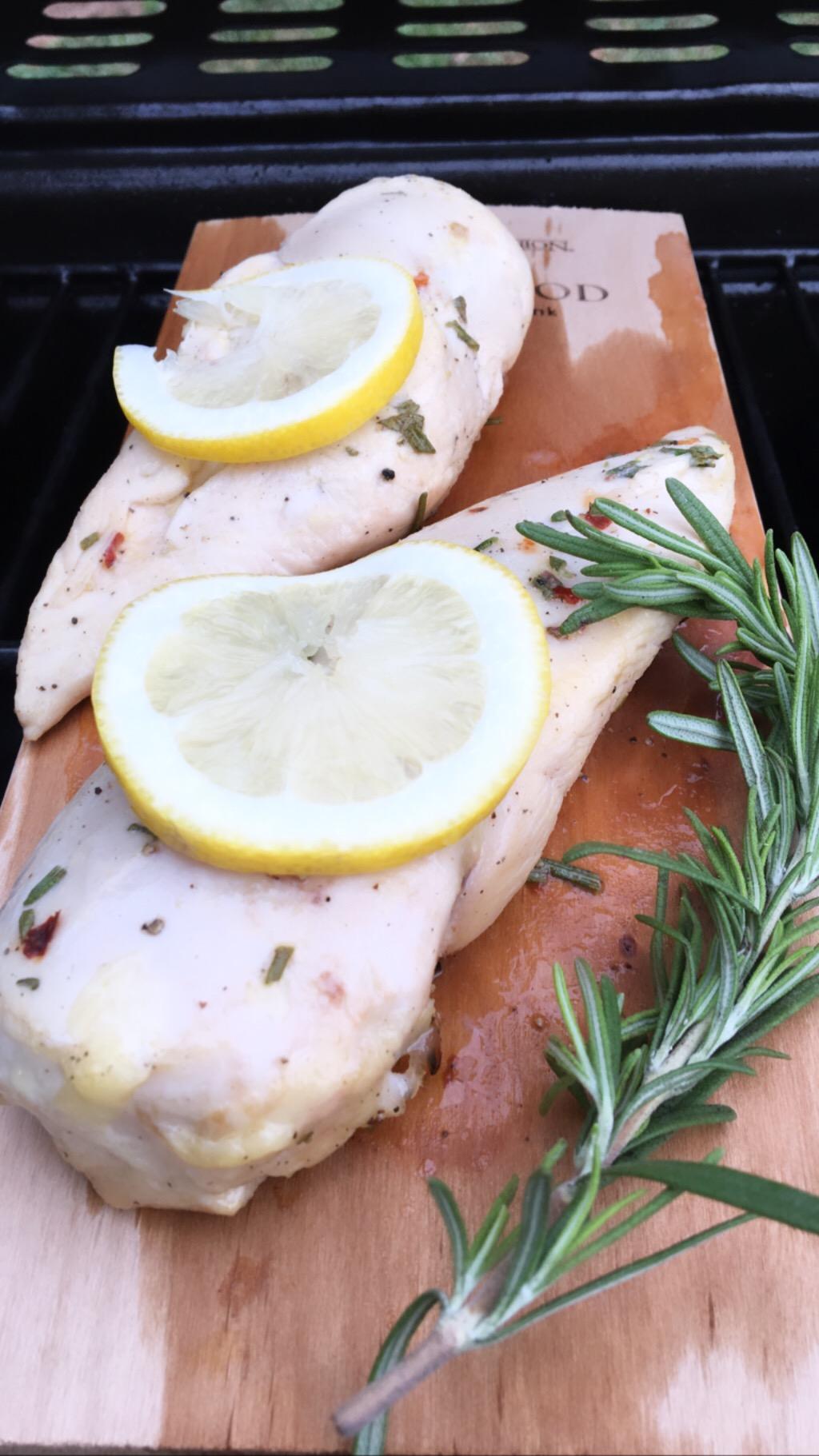 Alder Plank Grilled Chicken -