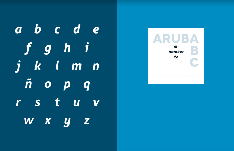 Beginning section of our ArubABC books.
