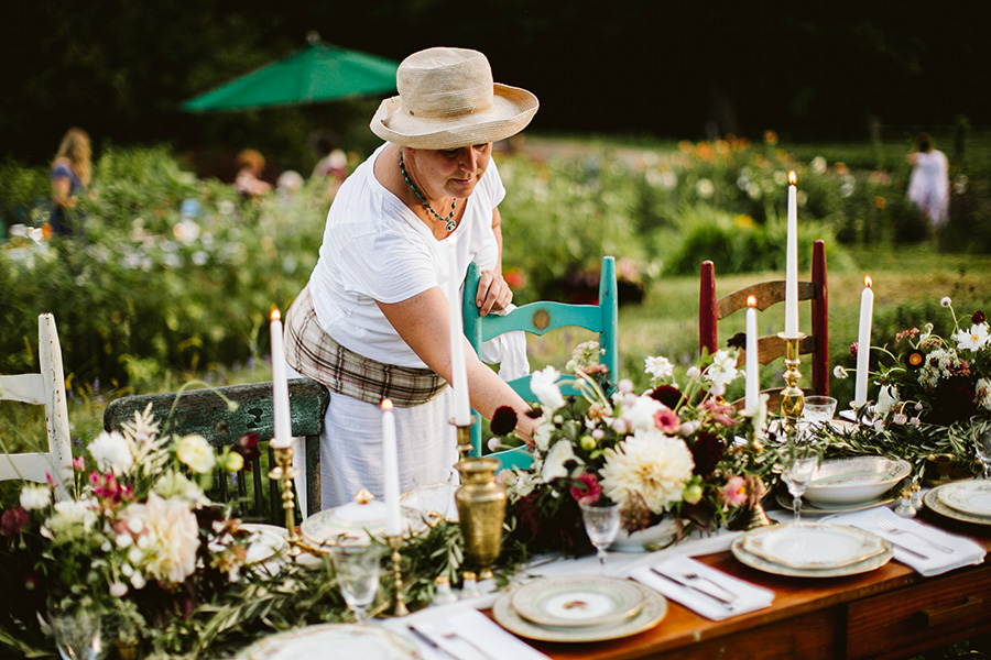 Asheville NC based Urban Farm Girl Flowers creates beautiful organic flower arrangements for your next party or event.