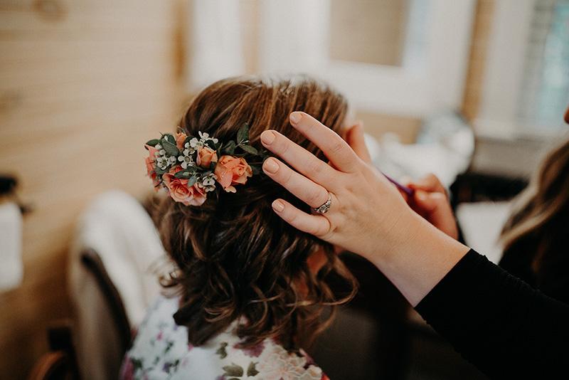 Bridal Flower Hair