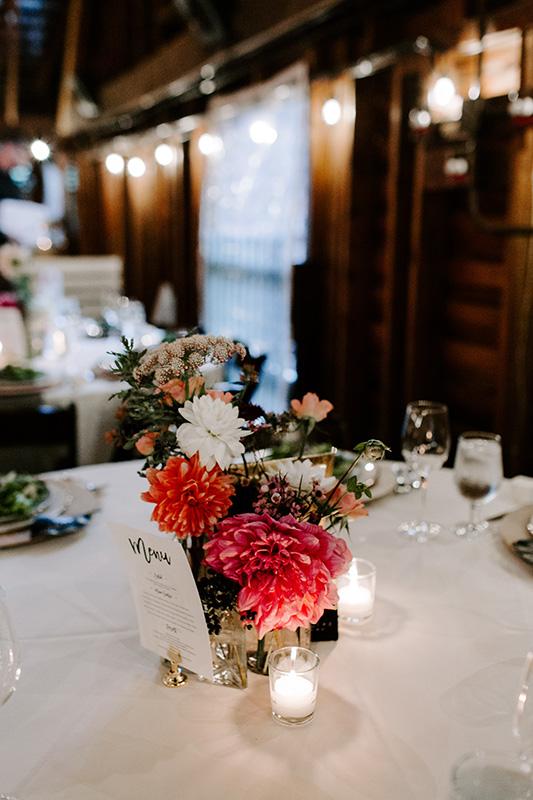 Wedding Table Floral Decor