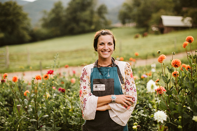 Urban Farm Girl Flowers in Asheville NC will create the perfect floral decor for your wedding or event.