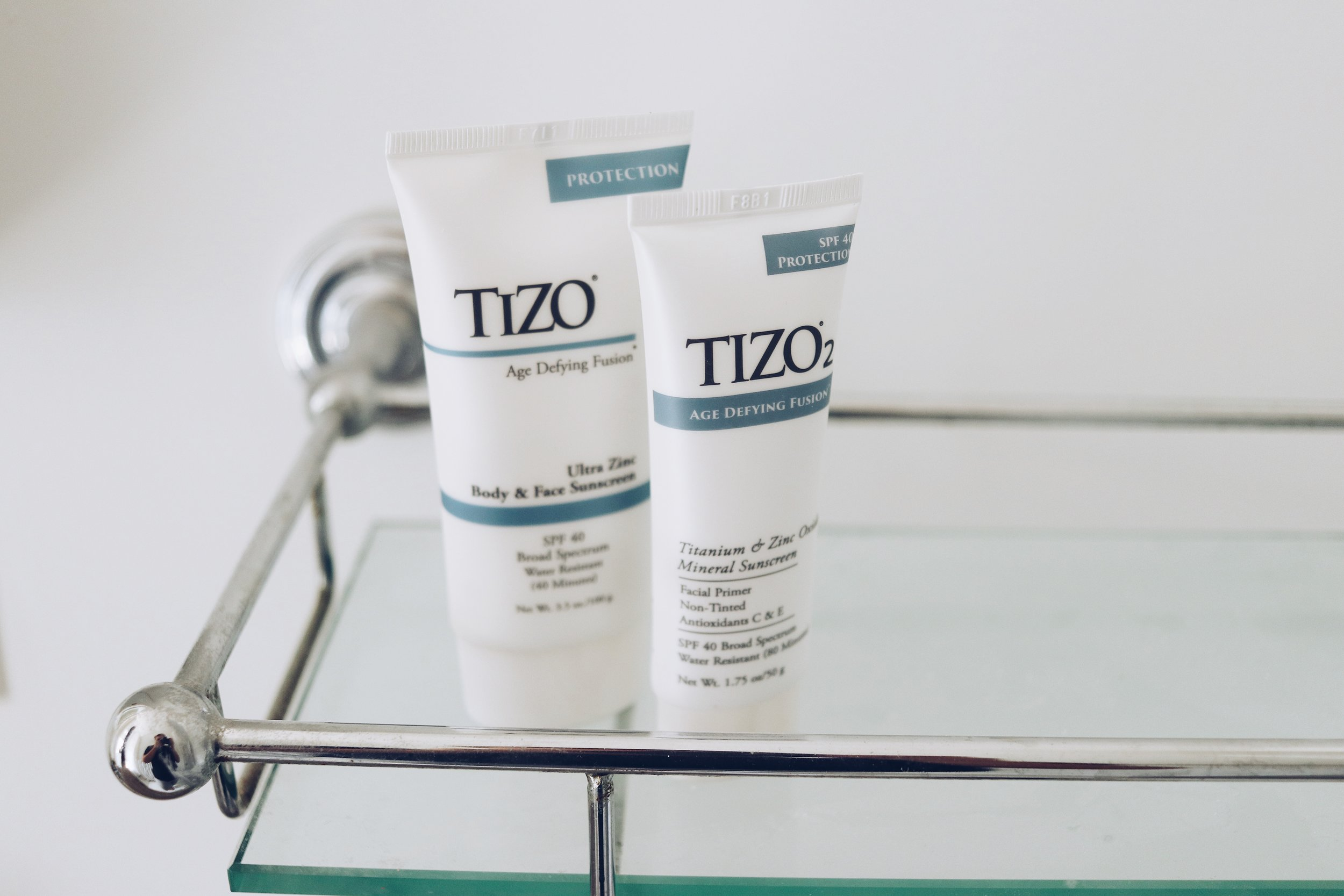 TIZO SUNSCREEN   These mineral sunscreens change and help to slow signs of pre-mature skin aging by protecting the skin from the aging effects of the sun. Solar Radiation exposure results in dry, damaged skin with a higher risk of pigmentation changes, fine lines and wrinkles as well as skin cancer.   Why we love it:  + Free from chemicals, oils, preservatives and parabens + Prevents premature aging   Top Products:    TIZO3 Tinted Facial Sunscreen:  $39   TIZO2 Non-Tinted Facial Sunscreen:  $39