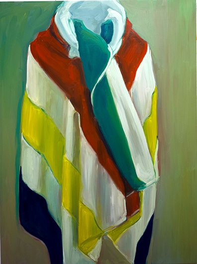 "Hudson's Bay Towel 1, oil on board, 48"" x 36"", 2018"