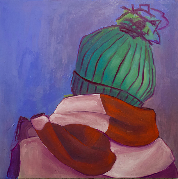 "Baby, It's Cold Outside, oil on board, 48"" x 48"", 2019"