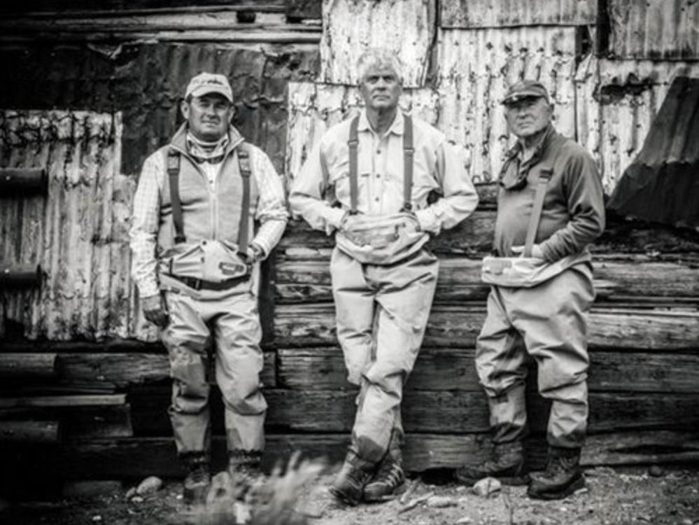 Left to right: Mauro Mazzo, Craig Mathews, Yvon Chouinard  Photo from Tim Davis, Courtesy of Patagonia