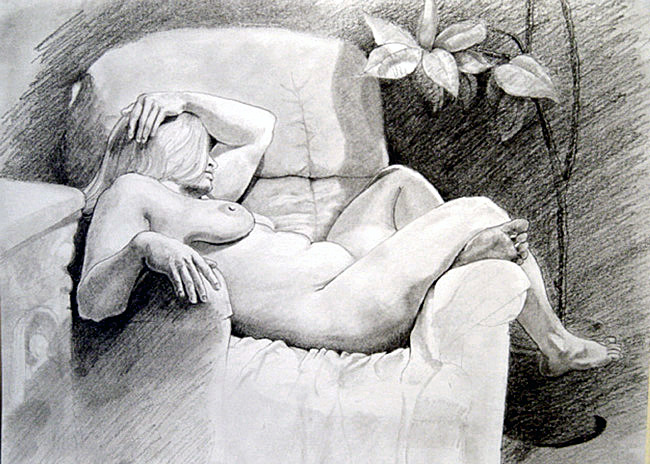 KK Study Seated figure 2 pencil 2004.jpg