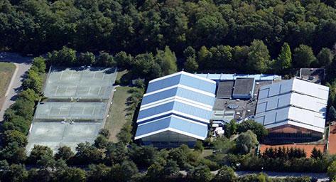 Seit 1977 eine Institution für den Tennissport: der Sportpark Fassbender