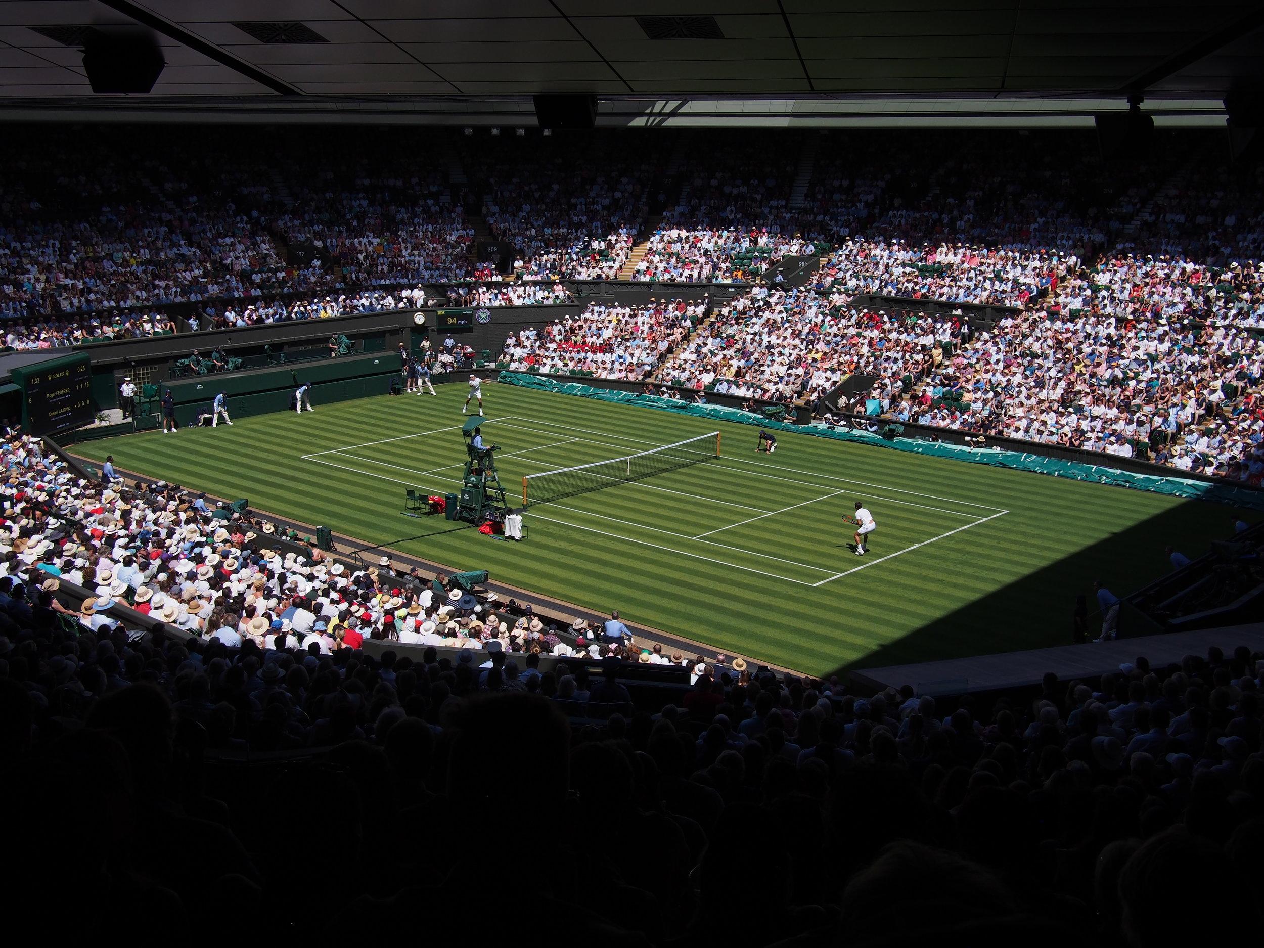 Wimbledon mit seinem heiligen Rasen
