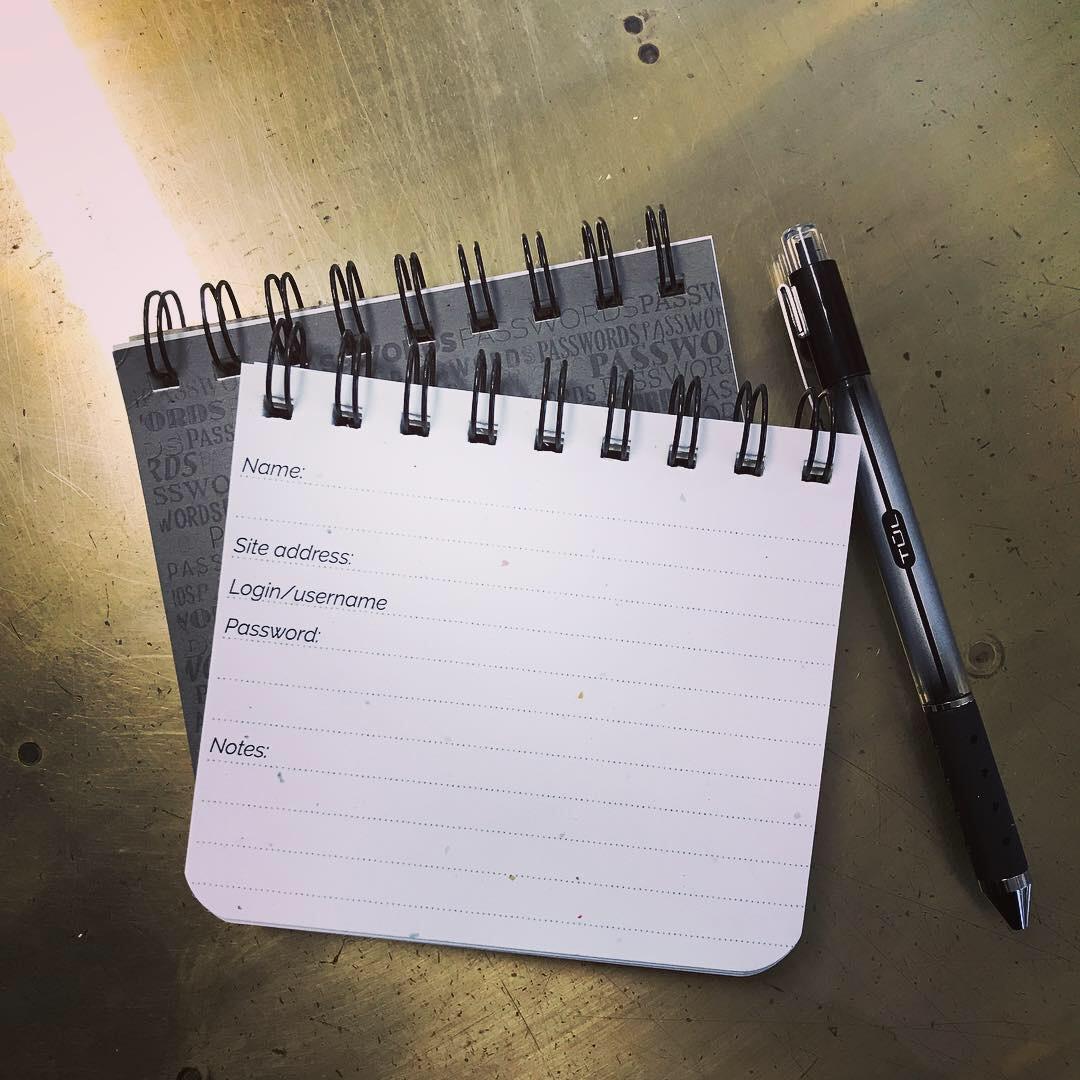 Password book - keep em handy in one convenient notebook!