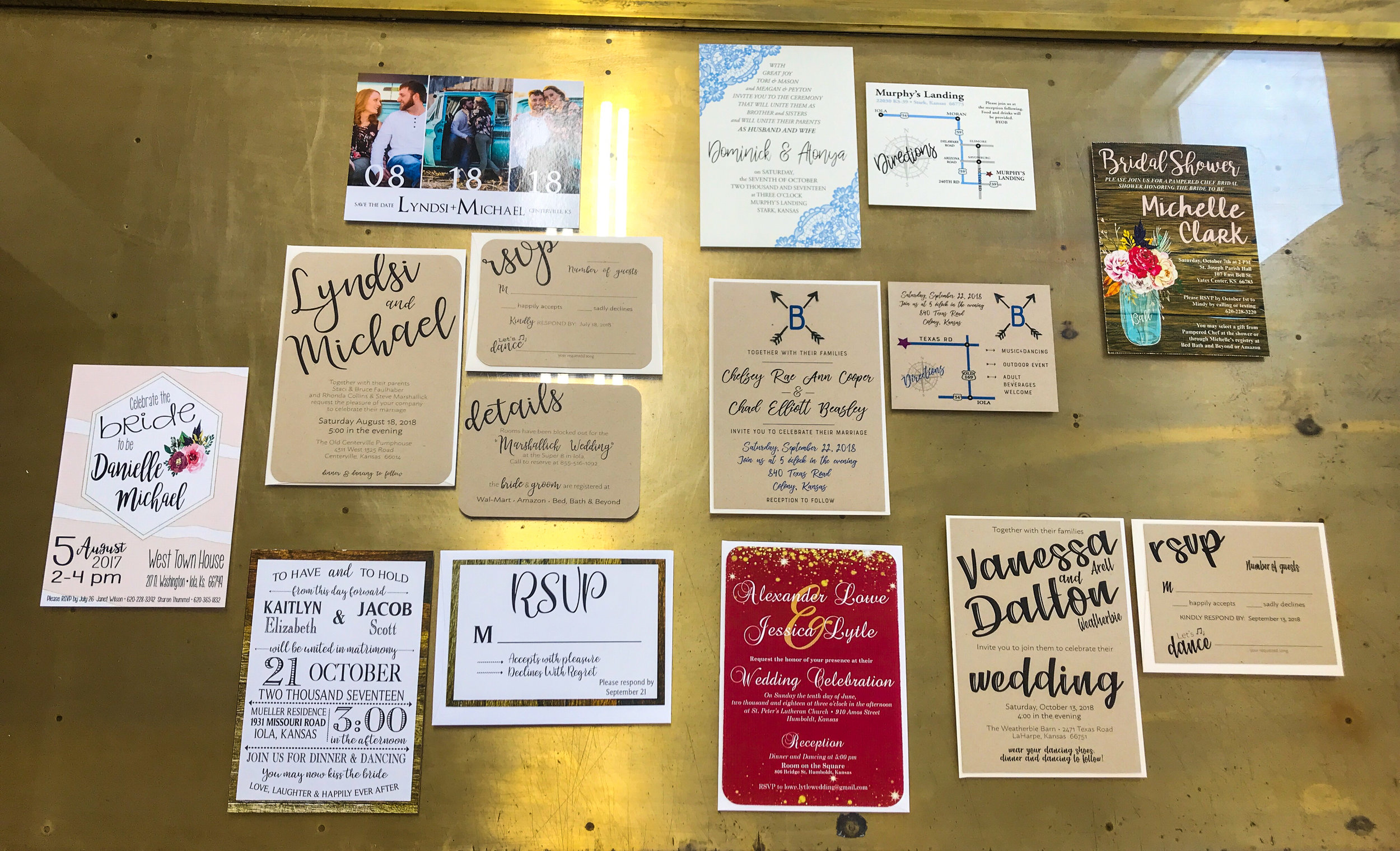 Everything Wedding - Let us be your go to from bridal shower to wedding to programs. We have you covered. Choose already designed or request your own for your special day.