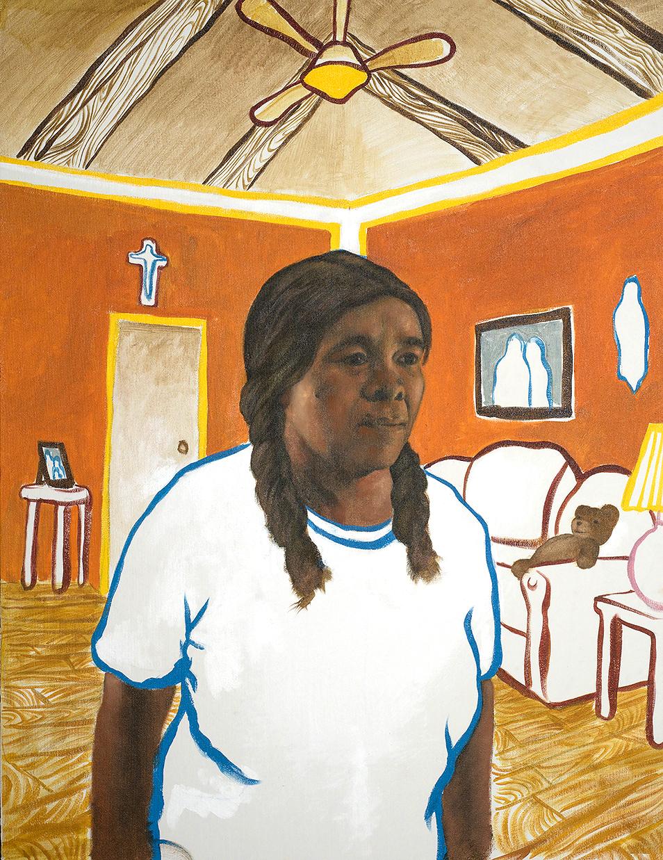 Mi Familia Es Mi Mundo, Oil and Acrylic on Canvas, 2018, 27 x 32 in