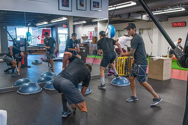 During the NHL season, these players go head to head, but here at Spracklin Performance they teamed up to crush their workouts!