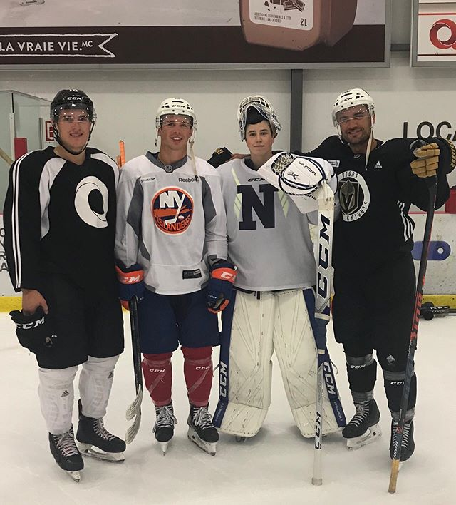 Wishing you a great season ahead Johan Tremblay-Kau at Northwood Prep School. Great job this summer with the NHL boys. Will carrier, Anthony Beauvillier and Nick Aube Kubel did not take it easy on you.  You killed it. Keep it up.