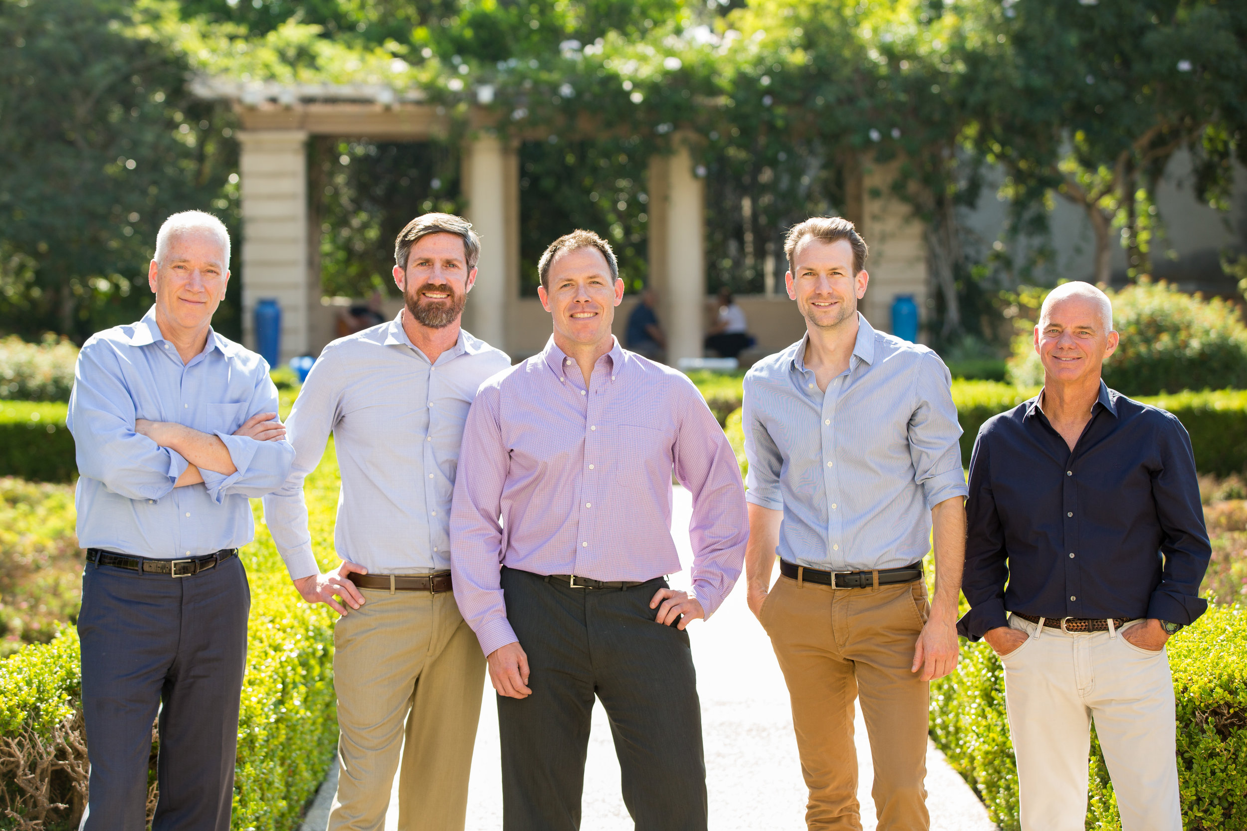 2017:  Hope-Amundson joins Coffman in San Diego and announces new principals in 2018. (Pictured L-R) Jim Amundson, James Conley, Scott Twele, Casey Whitsett, and Chuck Hope.