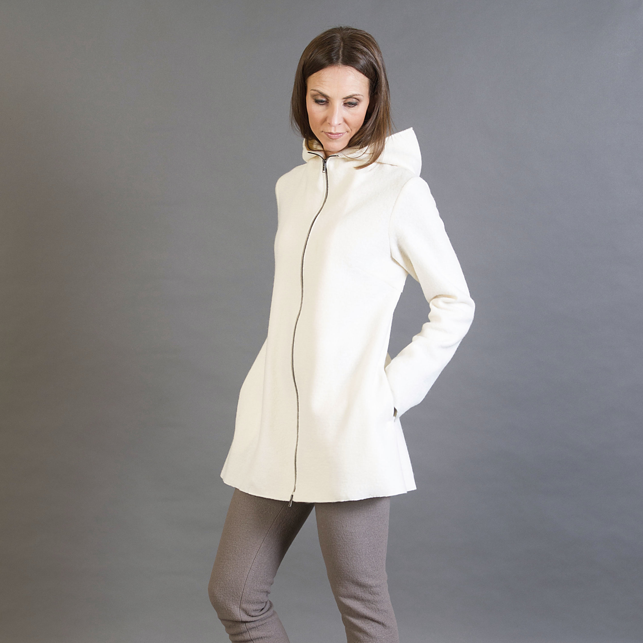 ESSI - COAT IN BOILED WOOL