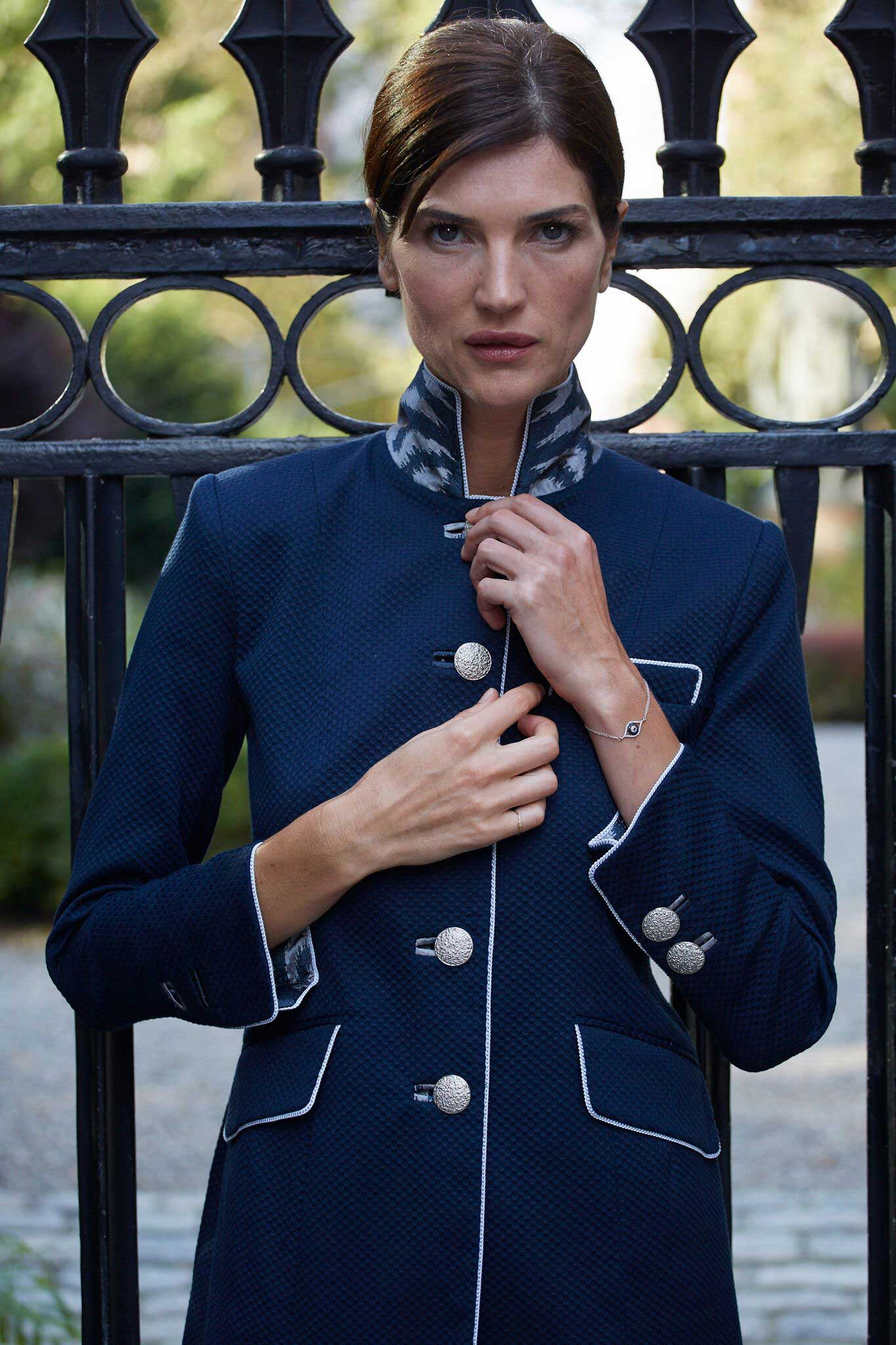 The Gianni Jacket with Designer Trim from the hand-tailored Gramercy Atelier Custom Collection.