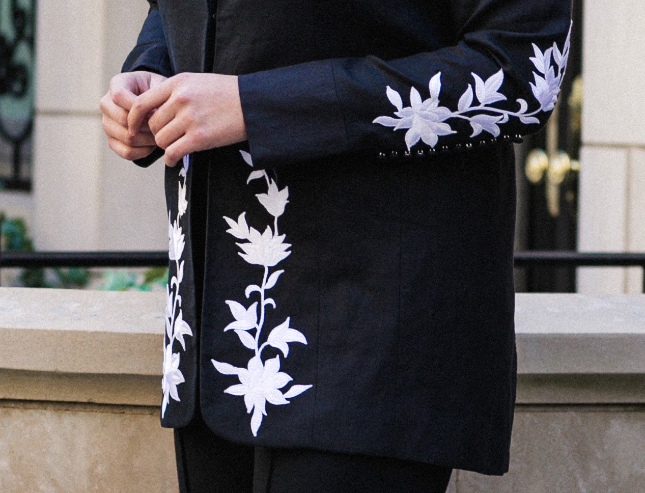 Close up shot - Here you can see the detail on the Gianni Jacket. These elements can be custom