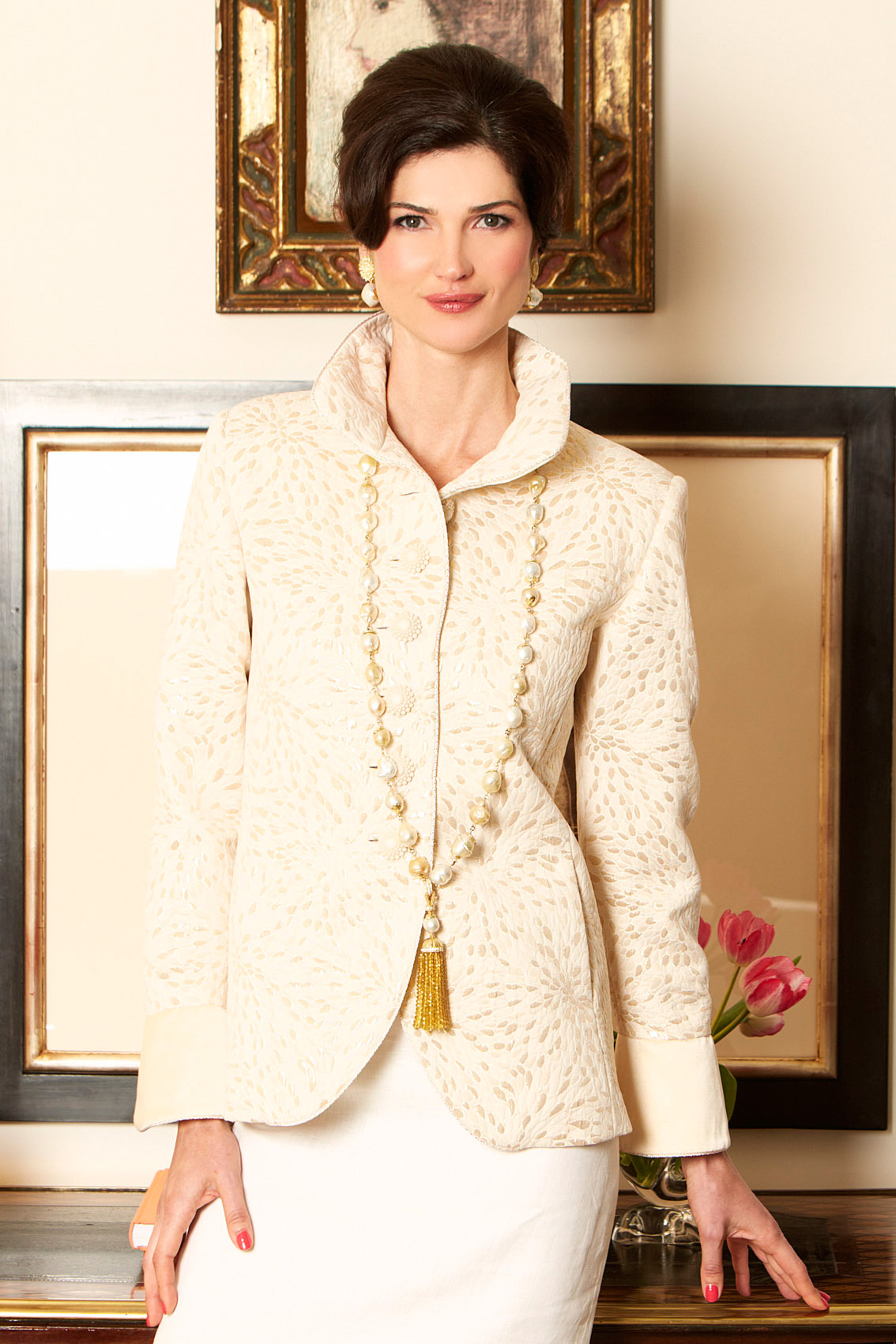 Charleston Jacket in Gold Brocade (also made with French Cuffs)  $1170