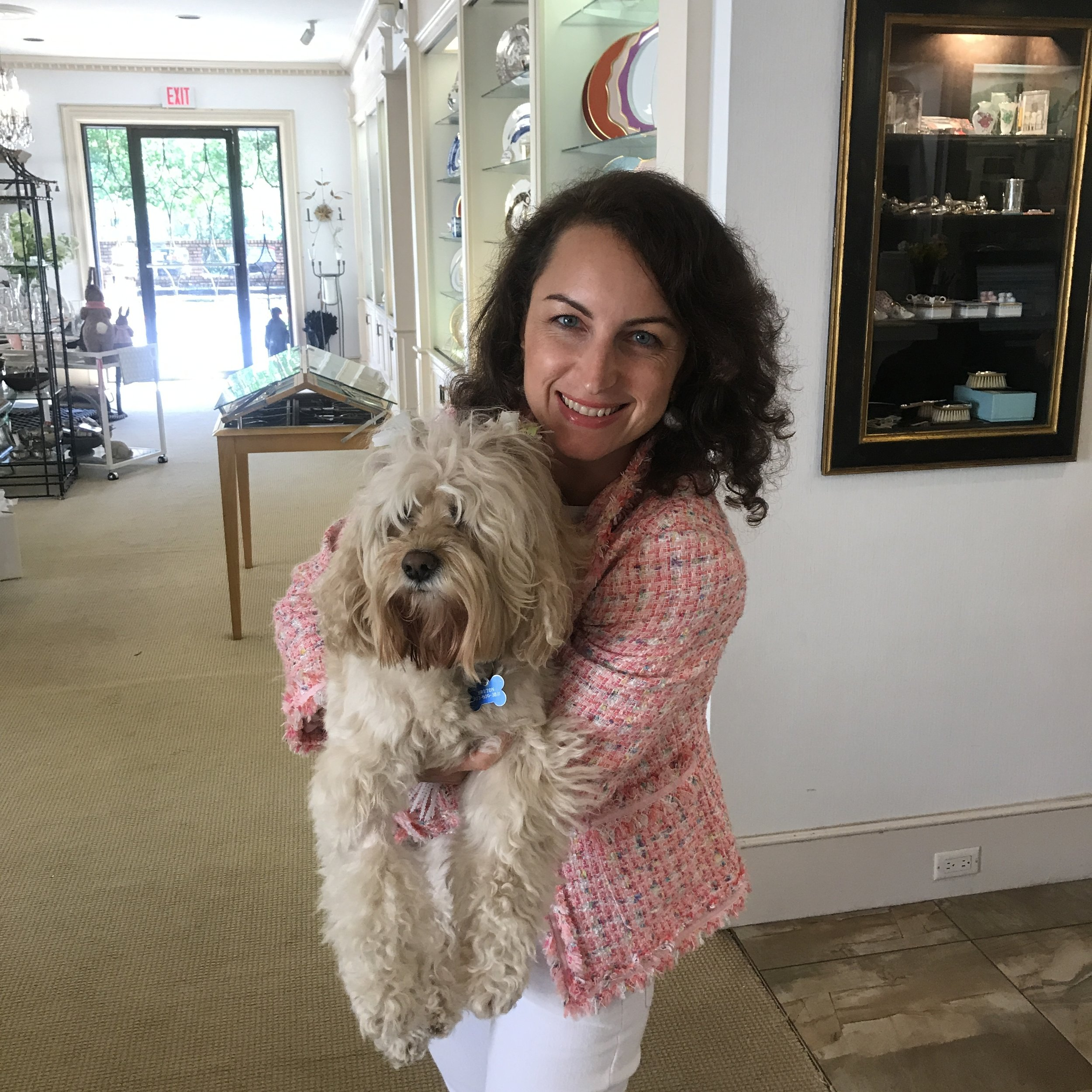 Maria Pucci with Dog in Columbia.jpg