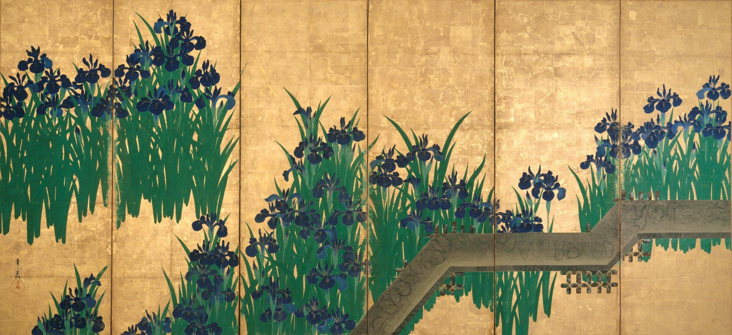 Ogata Korin –  Irises