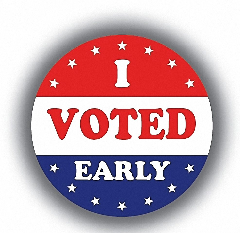 Vote EARLY at the John Merlo Public Library located at 644 West Belmont from February 11-25 (hours below) -