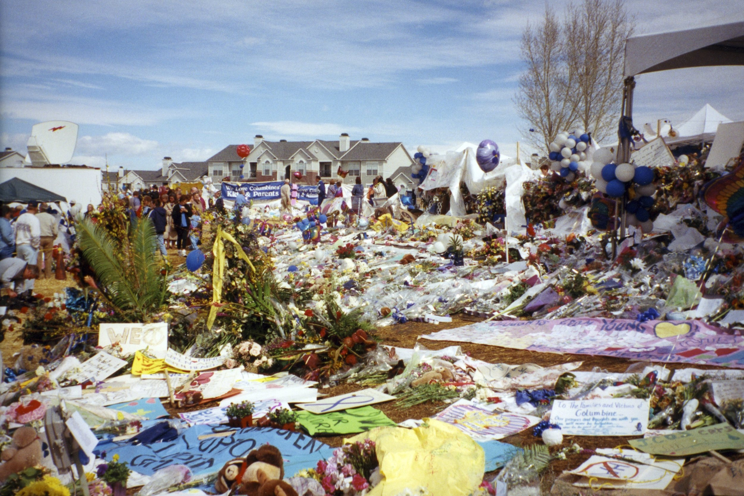 photo of Columbine memorial, just after shootings. provided by Crystal.